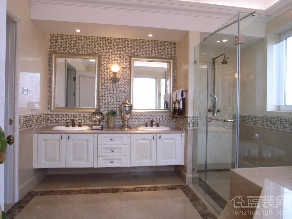 卫生间洗手池 隐形门效果图