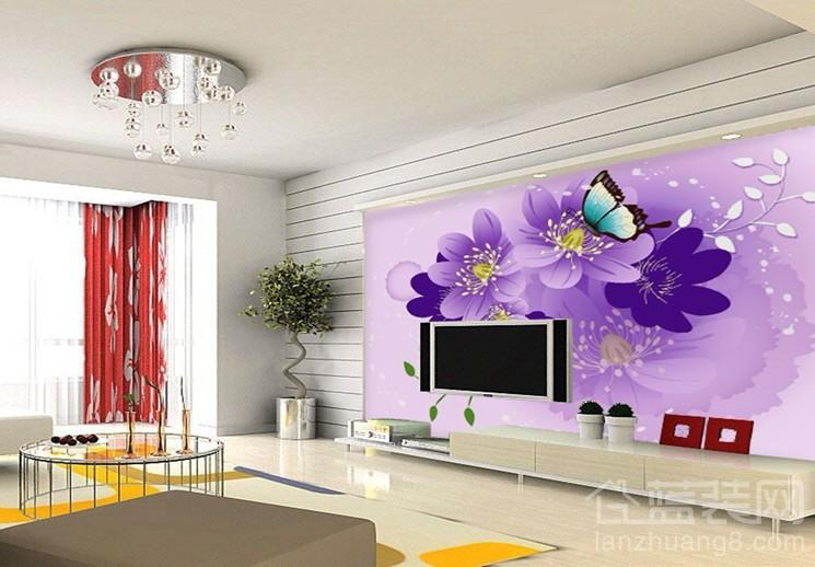 紫色客厅装修效果图 情迷紫色神秘尊贵
