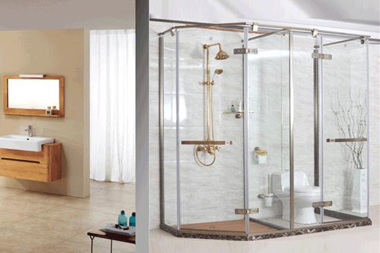 简单浴室隔断效果图