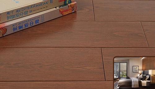 卧室木纹砖铺贴效果图