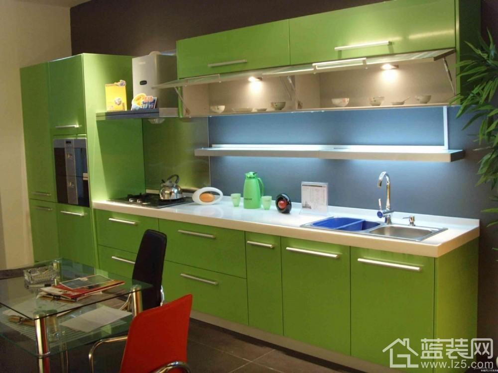 厨柜装修效果图绿色 欧式