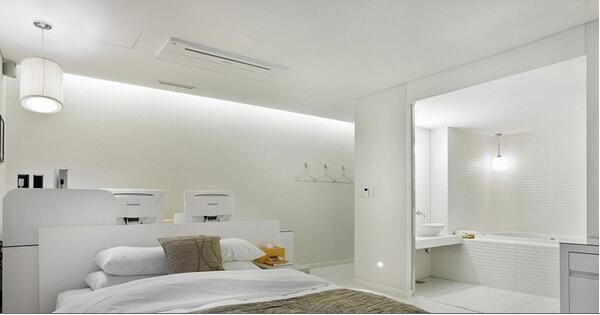 不如试试这些扩大浴室空间的设计图片