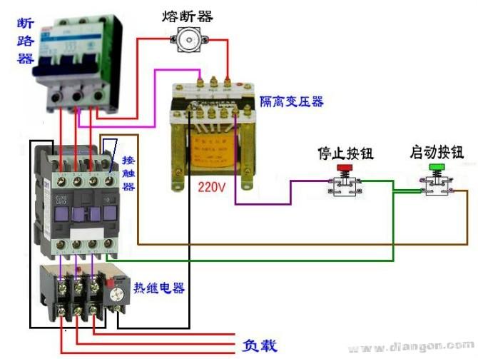 继电器工作原理及接线图
